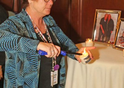 Lighting the Candle for all Veterans